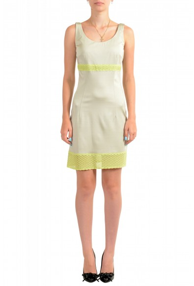 Just Cavalli Women's Sleeveless Lace Trimmed Bodycon Dress