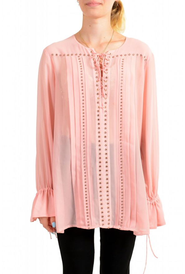Just Cavalli Women's Pink See Through Blouse Top