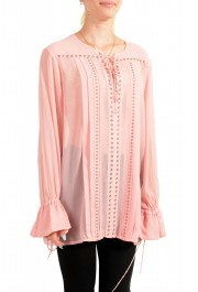 Just Cavalli Women's Pink See Through Blouse Top : Picture 2