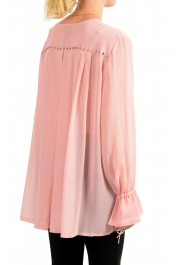 Just Cavalli Women's Pink See Through Blouse Top : Picture 3
