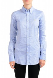 Dsquared2 Women's Blue Long Sleeve Button Down Shirt Top