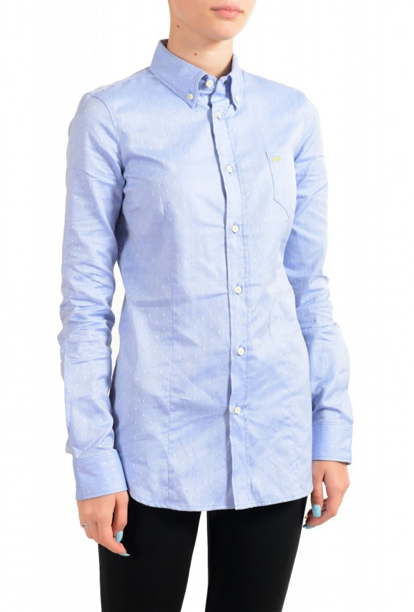 Dsquared2 Women's Blue Long Sleeve Button Down Shirt Top : Picture 2
