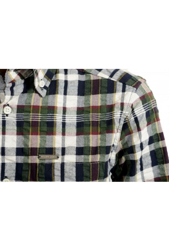 Dsquared2 Women's Plaid Multi-Color 3/4 Sleeve Button Down Shirt Top: Picture 4