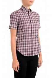 Dsquared2 Women's Plaid Multi-Color Short Sleeve Button Down Shirt : Picture 2