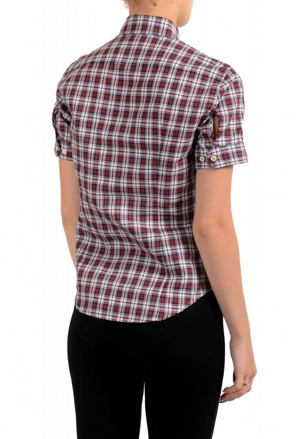 Dsquared2 Women's Plaid Multi-Color Short Sleeve Button Down Shirt : Picture 3