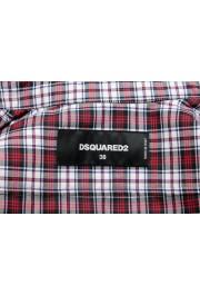 Dsquared2 Women's Plaid Multi-Color Short Sleeve Button Down Shirt : Picture 5