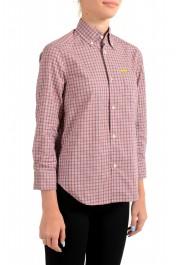 Dsquared2 Women's Plaid Multi-Color 3/4 Sleeve Button Down Shirt Top: Picture 2