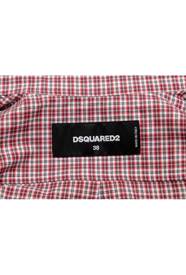 Dsquared2 Women's Plaid Multi-Color 3/4 Sleeve Button Down Shirt Top: Picture 5