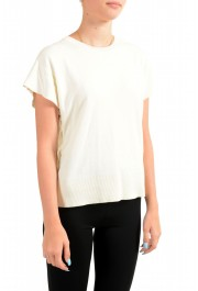 Maison Margiela Mm6 Women's Ivory Asymmetrical Knitted Top : Picture 2