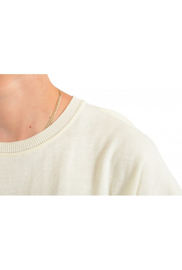 Maison Margiela Mm6 Women's Ivory Asymmetrical Knitted Top : Picture 4