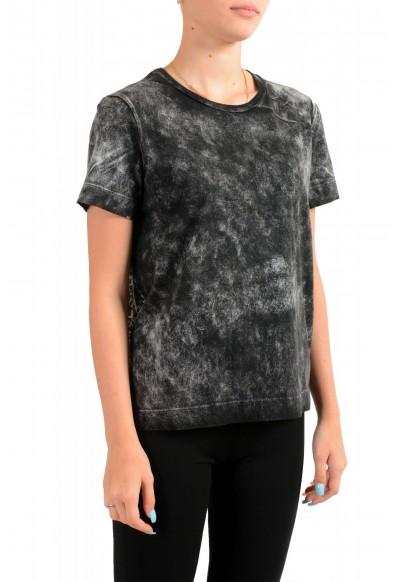 Just Cavalli Women's Acid Wash Crewneck Blouse T-Shirt Top : Picture 2