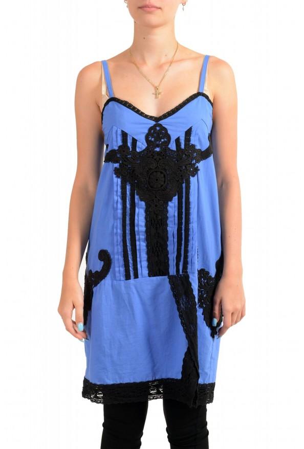 Just Cavalli Women's Sleeveless Lace Trimmed Sundress Dress