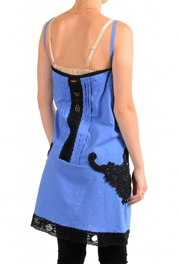 Just Cavalli Women's Sleeveless Lace Trimmed Sundress Dress : Picture 3
