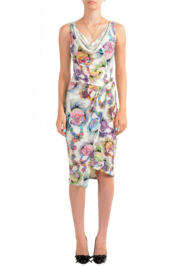 Just Cavalli Women's Sleeveless Multi-Color Sundress Dress