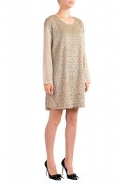 Just Cavalli Women's Beige Sparkle Boatneck Shift Dress : Picture 2