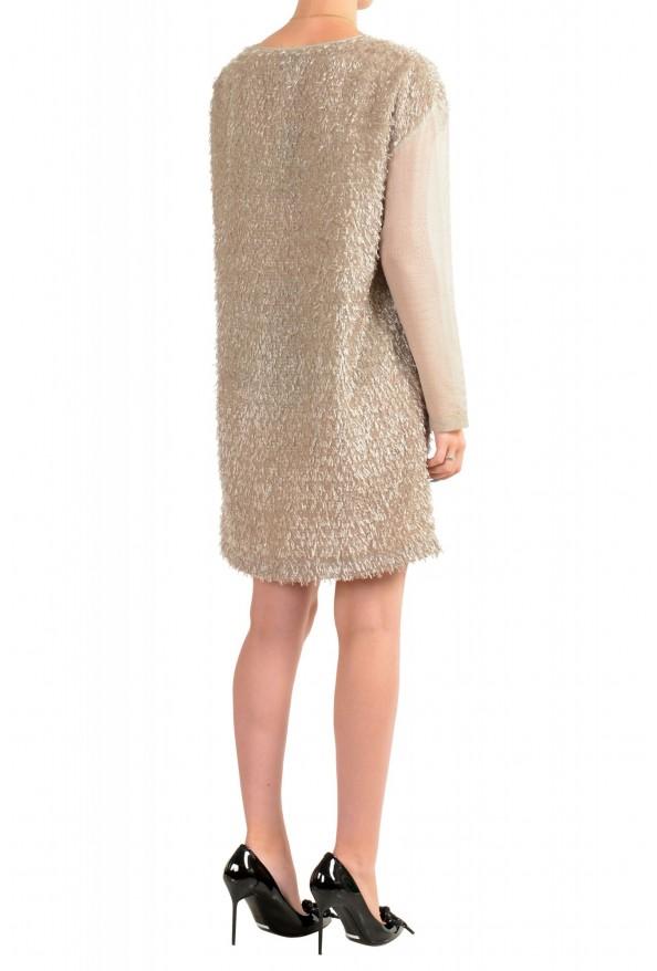 Just Cavalli Women's Beige Sparkle Boatneck Shift Dress : Picture 3