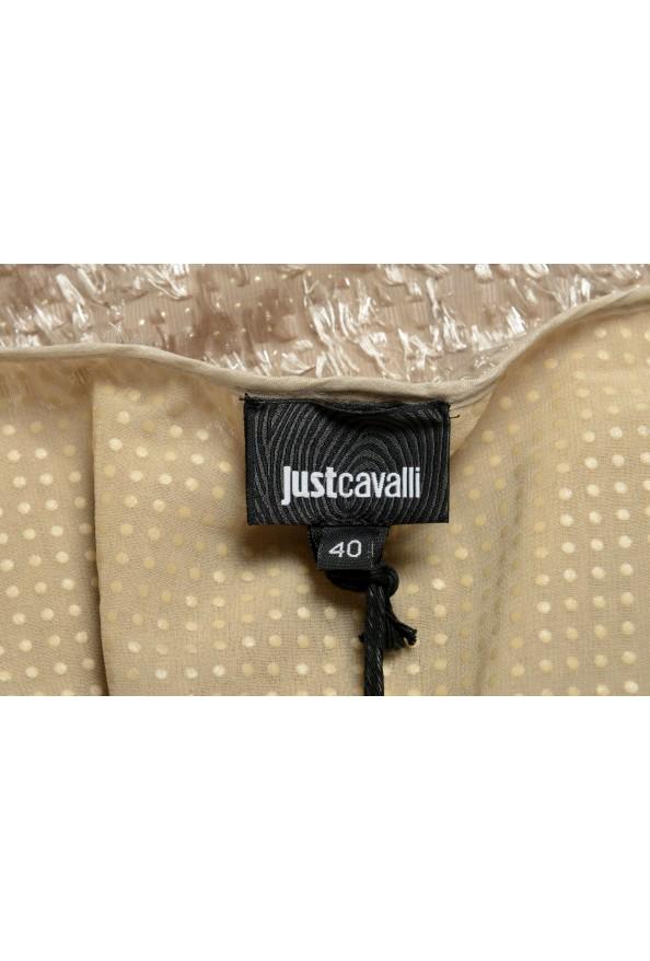 Just Cavalli Women's Beige Sparkle Boatneck Shift Dress : Picture 5