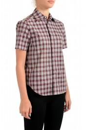 Dsquared2 Women's Plaid Sparkle Short Sleeve Button Down Shirt: Picture 2