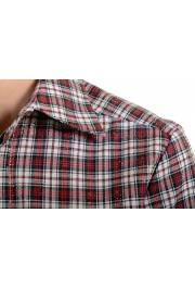 Dsquared2 Women's Plaid Sparkle Short Sleeve Button Down Shirt: Picture 4
