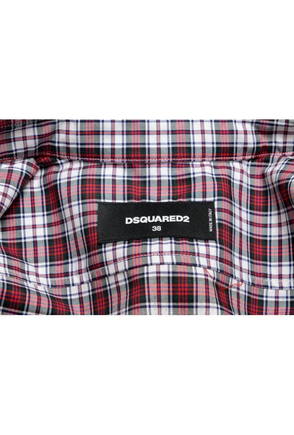 Dsquared2 Women's Plaid Sparkle Short Sleeve Button Down Shirt: Picture 5