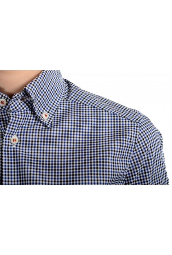 Dsquared2 Women's Plaid Blue Short Sleeve Button Down Shirt: Picture 4
