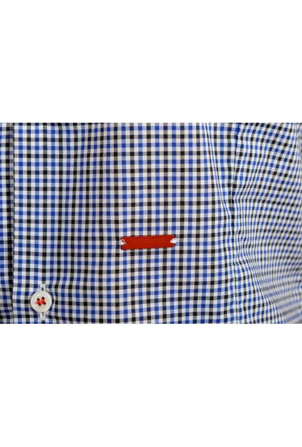 Dsquared2 Women's Plaid Blue Short Sleeve Button Down Shirt: Picture 5