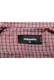 Dsquared2 Women's Plaid Multi-Color Short Sleeve Button Down Shirt: Picture 6