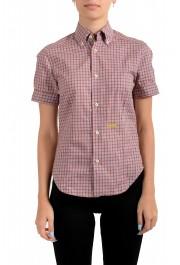 Dsquared2 Women's Plaid Multi-Color Short Sleeve Button Down Shirt