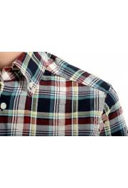 Dsquared2 Women's Plaid Multi-Color Short Sleeve Button Down Shirt: Picture 4