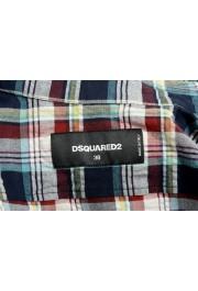 Dsquared2 Women's Plaid Multi-Color Short Sleeve Button Down Shirt: Picture 5
