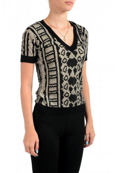 Just Cavalli Women's Multi-Color Wool Cashmere Short Sleeve Sweater : Picture 2