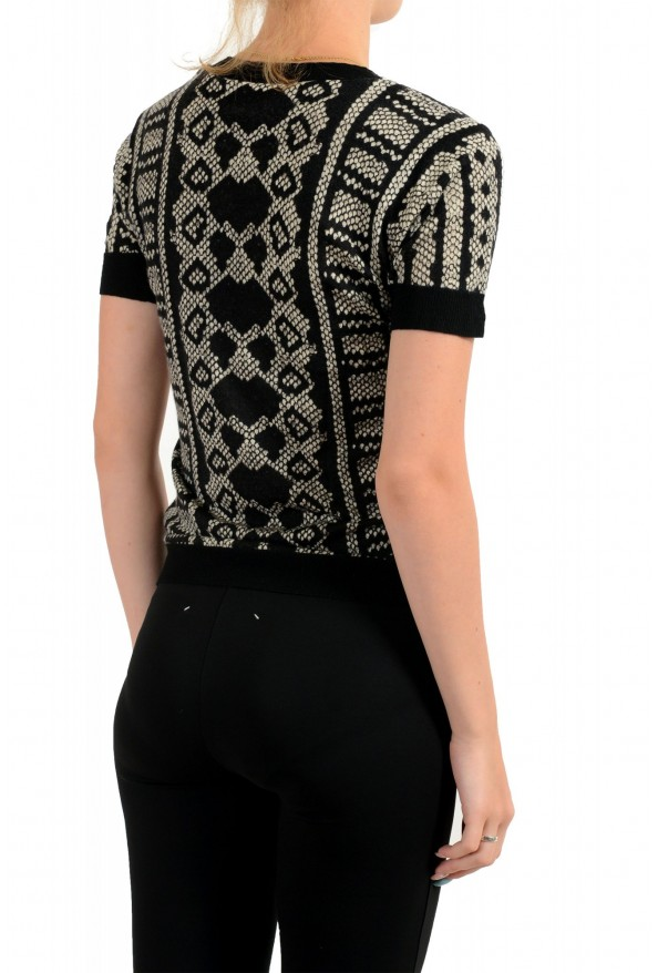 Just Cavalli Women's Multi-Color Wool Cashmere Short Sleeve Sweater : Picture 3