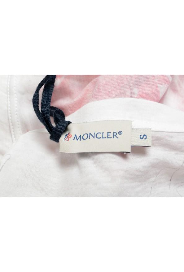 Moncler Women's Multi-Color Floral Print Cropped T-Shirt Top: Picture 5