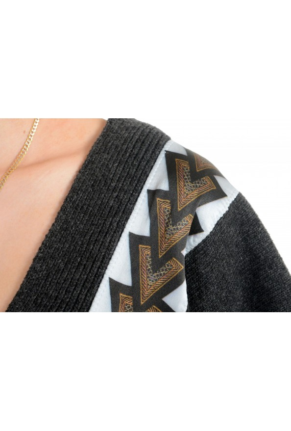 Just Cavalli Women's V-Neck Wool Cashmere Angora Pullover Sweater: Picture 4