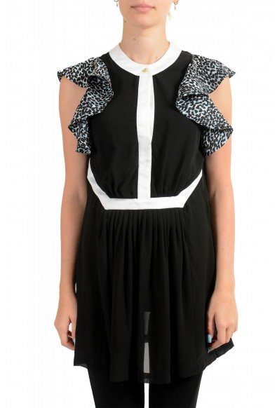 Just Cavalli Women's Black 100% Silk Blouse Tunic Top