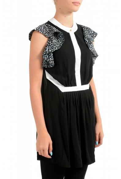 Just Cavalli Women's Black 100% Silk Blouse Tunic Top : Picture 2