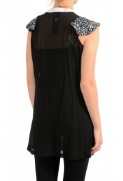 Just Cavalli Women's Black 100% Silk Blouse Tunic Top : Picture 3