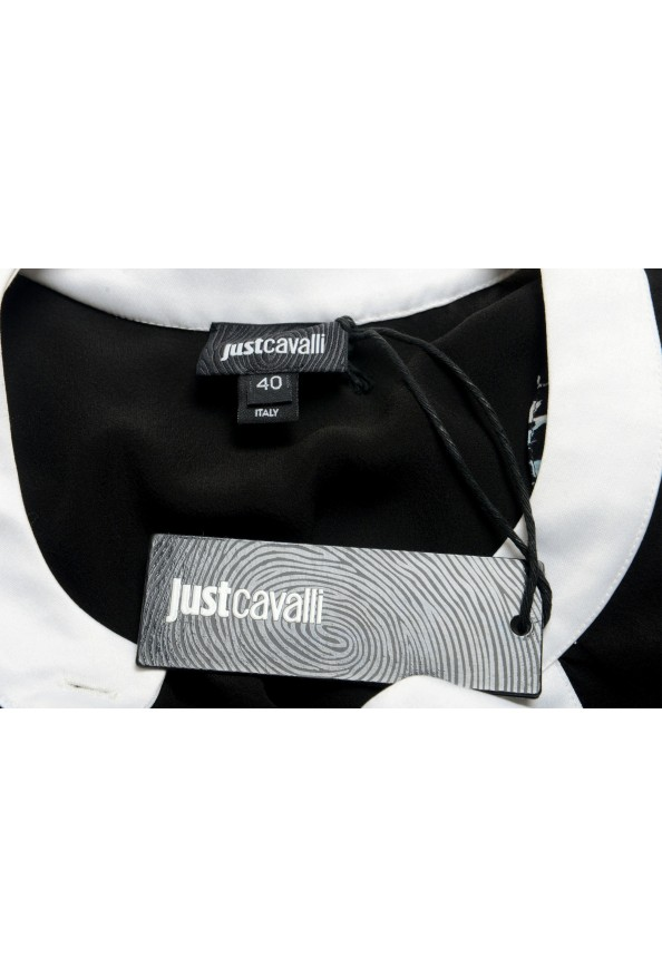 Just Cavalli Women's Black 100% Silk Blouse Tunic Top : Picture 6