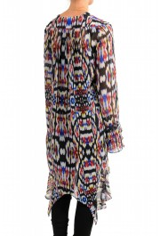 Just Cavalli Women's Multi-Color See Through Blouse Tunic Top: Picture 3