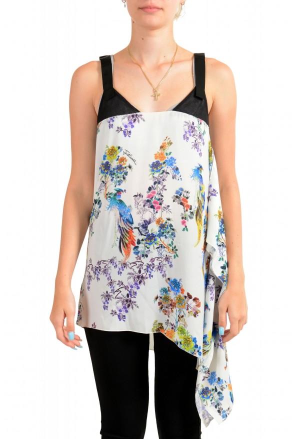 Just Cavalli Women's Asymmetrical Sleeveless Blouse Tunic Top