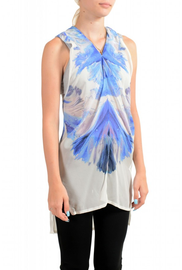 Just Cavalli Women's 100% Silk Multi-Color Sleeveless Blouse Tunic Top : Picture 2