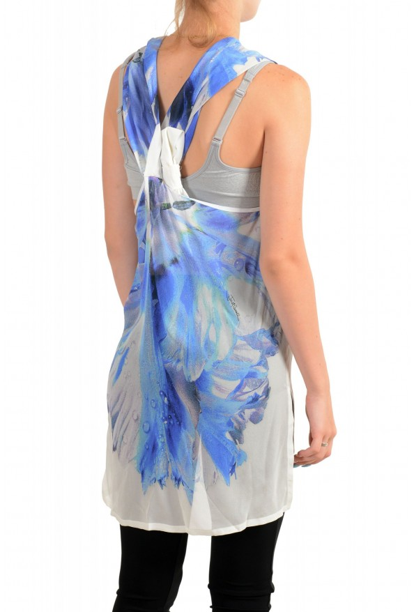 Just Cavalli Women's 100% Silk Multi-Color Sleeveless Blouse Tunic Top : Picture 3