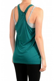 Just Cavalli Women's Embellished Green Blouse Tank Top : Picture 3