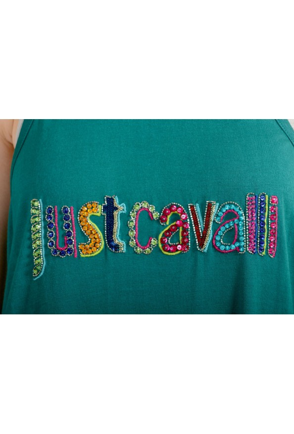 Just Cavalli Women's Embellished Green Blouse Tank Top : Picture 4