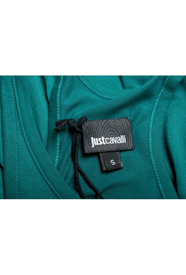 Just Cavalli Women's Embellished Green Blouse Tank Top : Picture 5