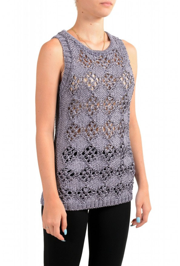 Just Cavalli Women's See Through Knitted Blouse Tank Top : Picture 2