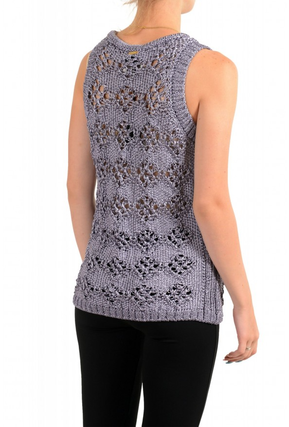 Just Cavalli Women's See Through Knitted Blouse Tank Top : Picture 3
