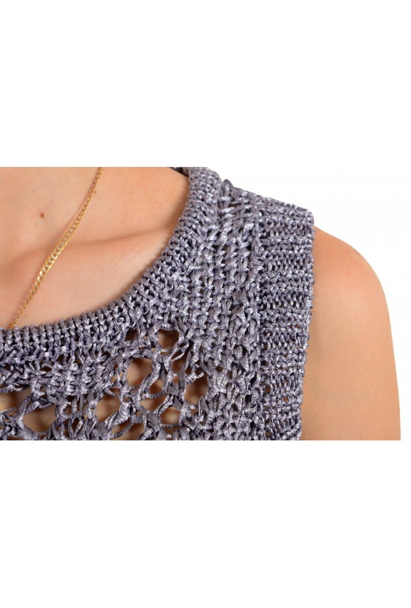 Just Cavalli Women's See Through Knitted Blouse Tank Top : Picture 4