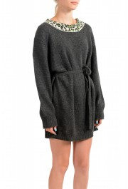 Just Cavalli Women's Gray 100% Wool Knitted Belted Dress: Picture 2