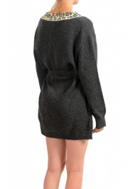 Just Cavalli Women's Gray 100% Wool Knitted Belted Dress: Picture 3